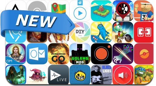 Newly Released iPhone & iPad Apps - July 29, 2016