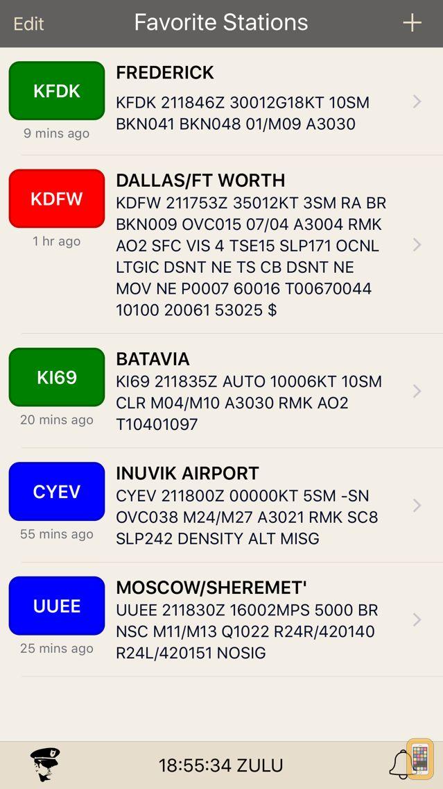 Screenshot - METARs Aviation Weather