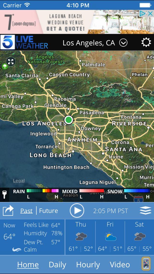 Screenshot - KTLA Los Angeles Weather
