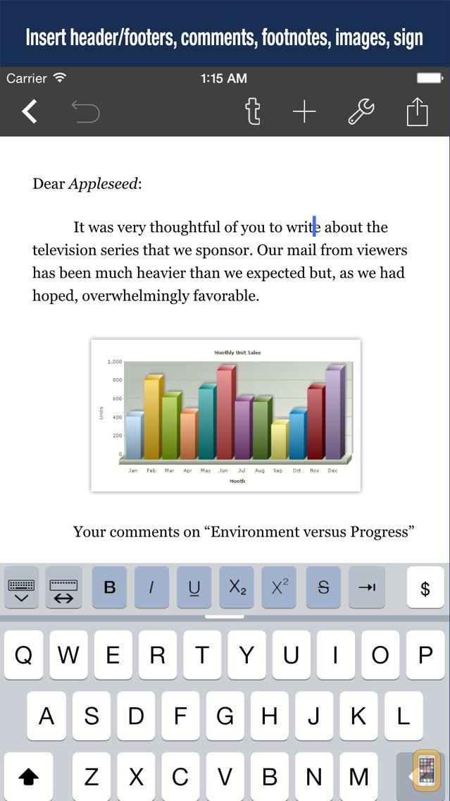 Screenshot - Textilus Pro Word Processor