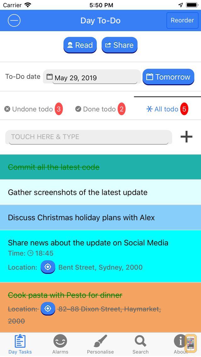 Screenshot - My Day To-Do - Smart Task List
