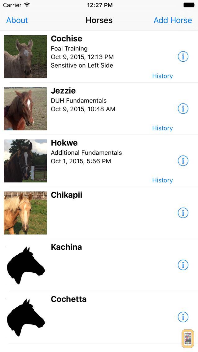 Screenshot - Nickers Horse Training Logbook