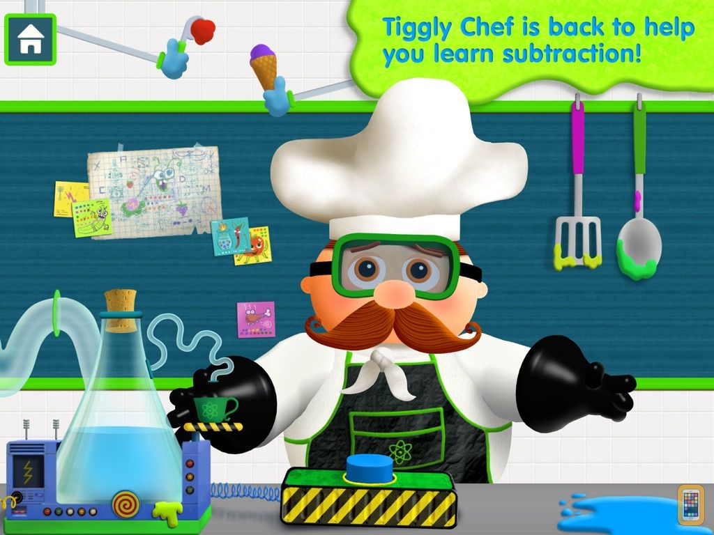 Screenshot - Tiggly Chef Subtraction: 1st Grade Math Game