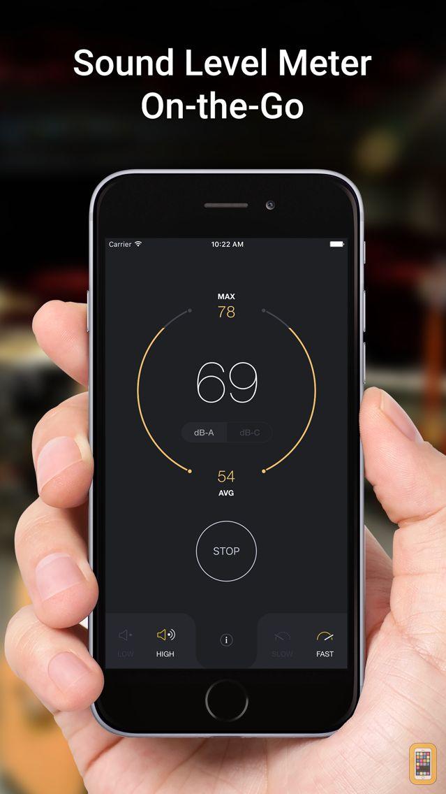 Screenshot - dB Decibel Meter - sound level measurement tool