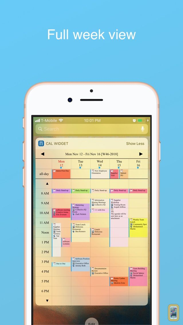 Screenshot - Week Calendar Widget Pro