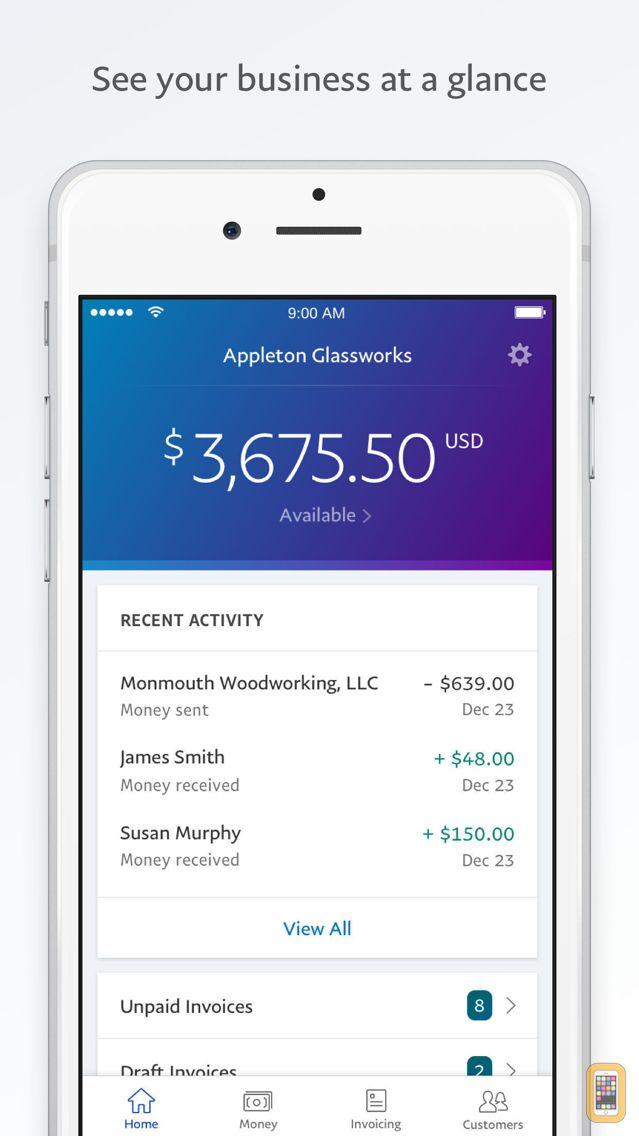 Screenshot - PayPal Business: Invoice Maker