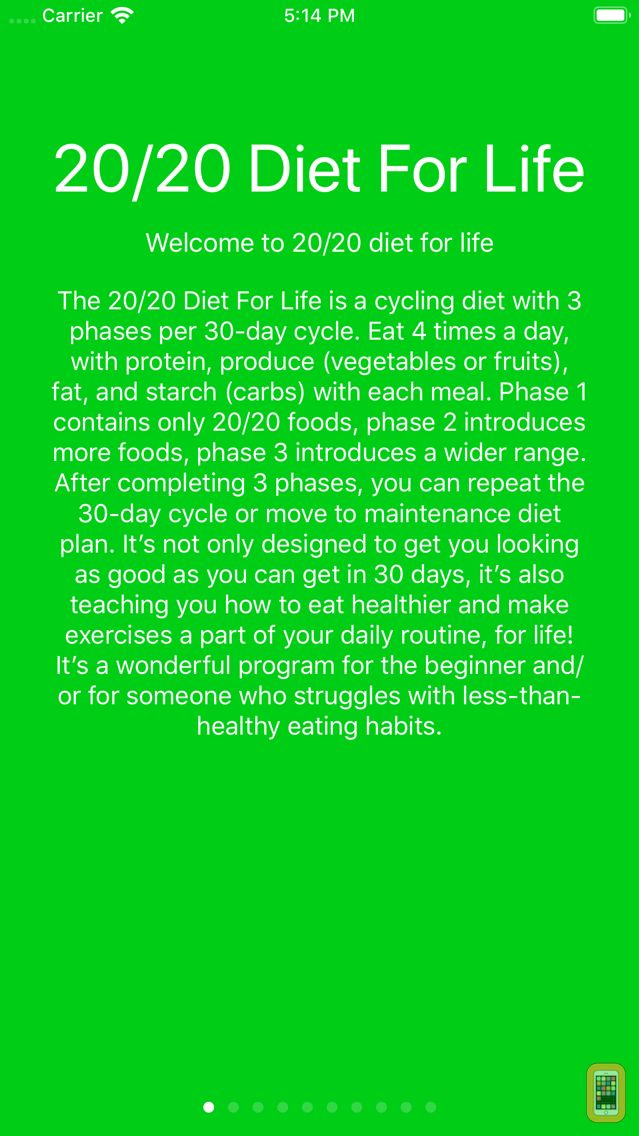 Screenshot - 20/20 Diet For Your Life