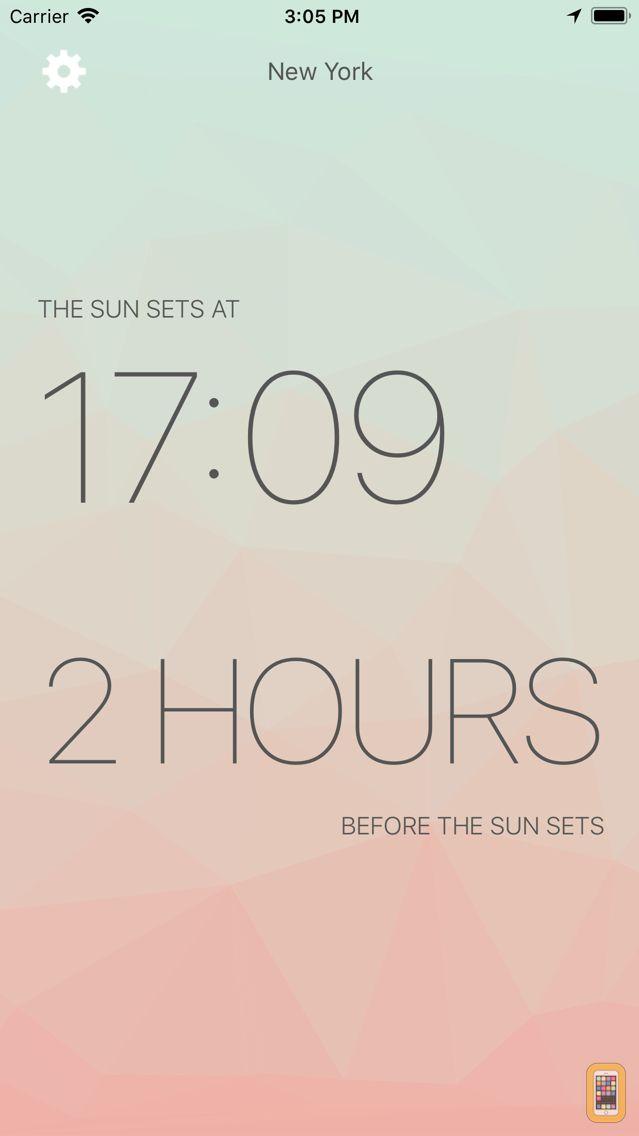 Screenshot - Lux - Sunrise and Sunset
