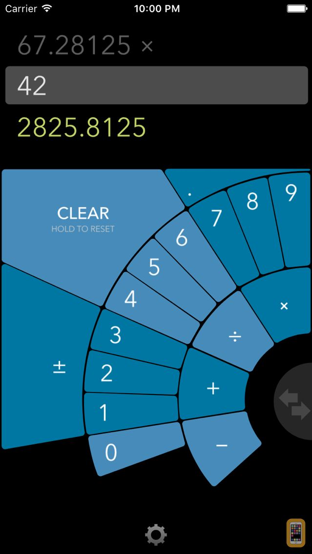 Screenshot - FutureCalc: ergonomic calculator with radial design