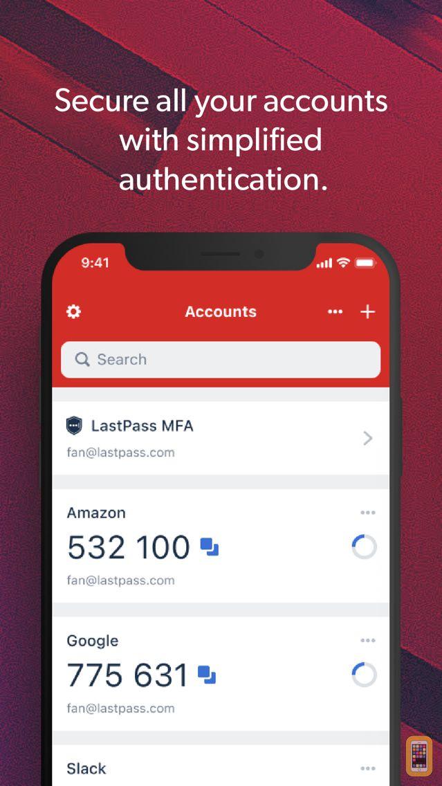 Screenshot - LastPass Authenticator