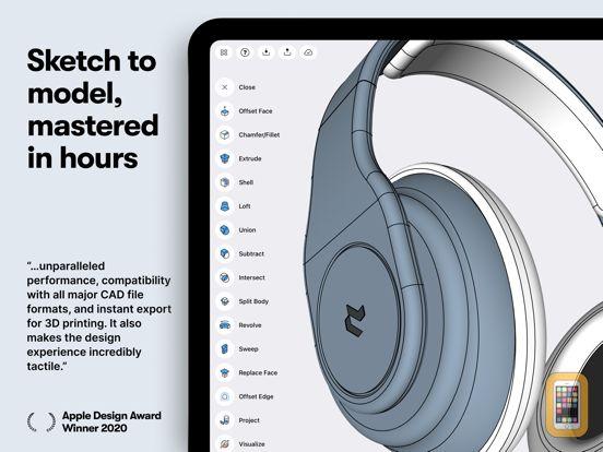Screenshot - Shapr 3D CAD modeling