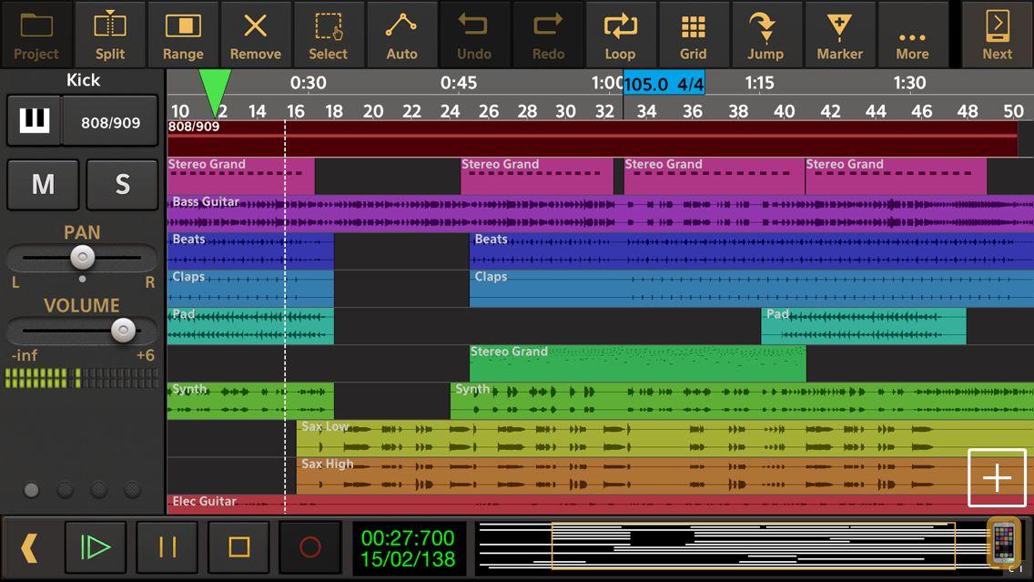 Screenshot - Audio Evolution Mobile Studio