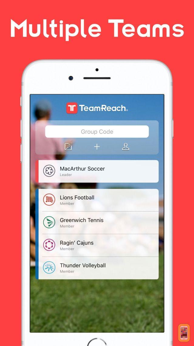 Screenshot - TeamReach – Your Team App