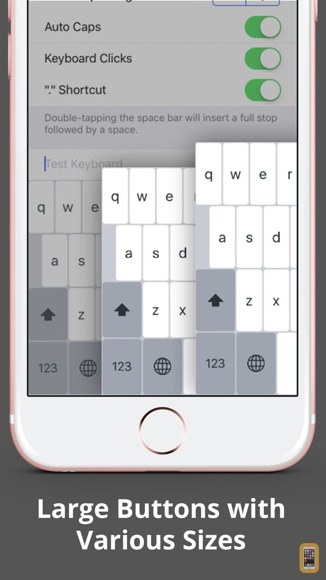 how to make keyboard bigger on iphone larger keyboard type faster w bigger xl for iphone 20161