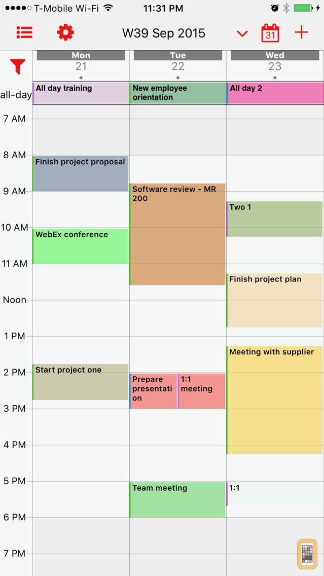 Screenshot - Week Calendar Pro