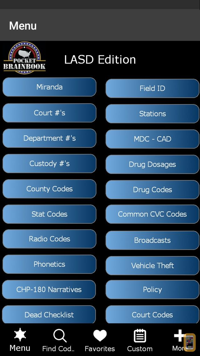 Screenshot - Pocket Brainbook - LASD
