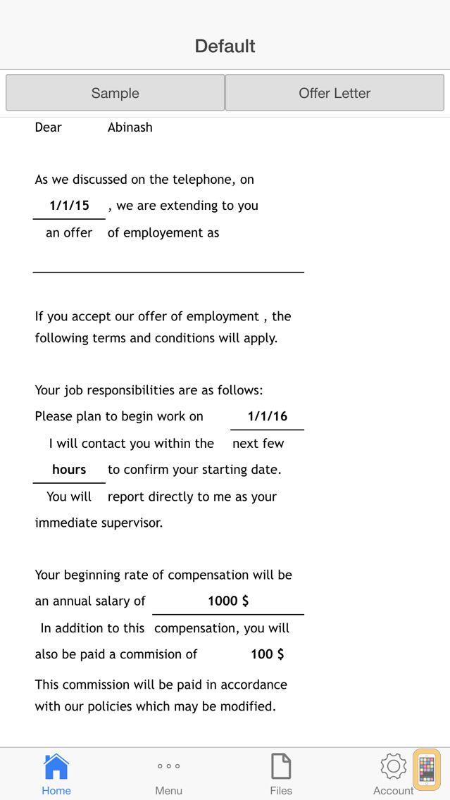 Screenshot - Job Offer Letter