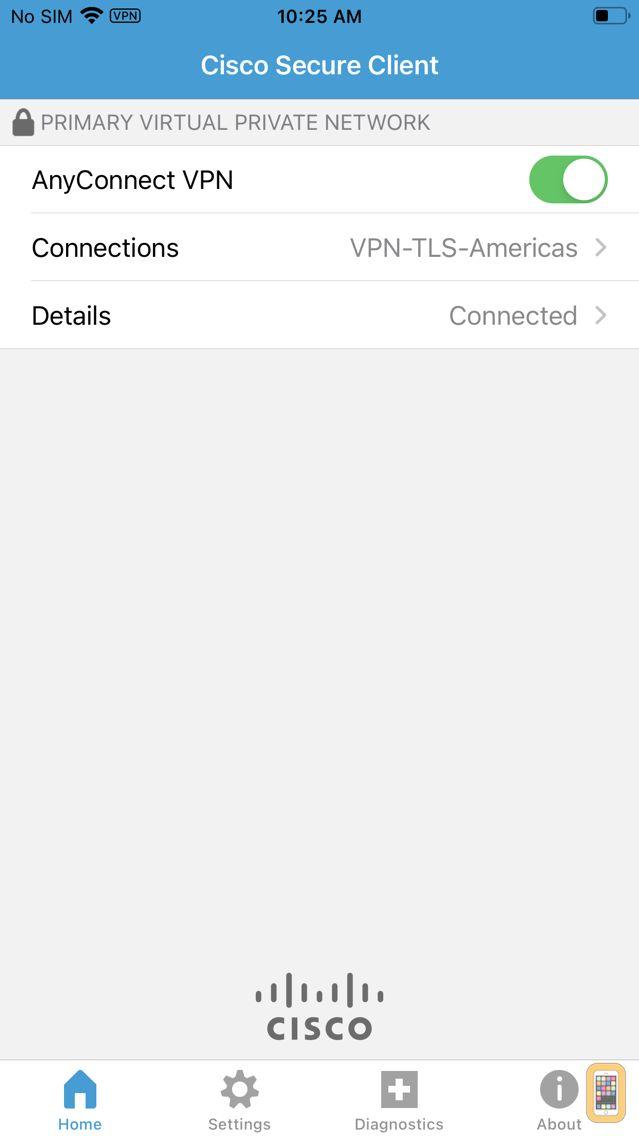 Screenshot - Cisco AnyConnect