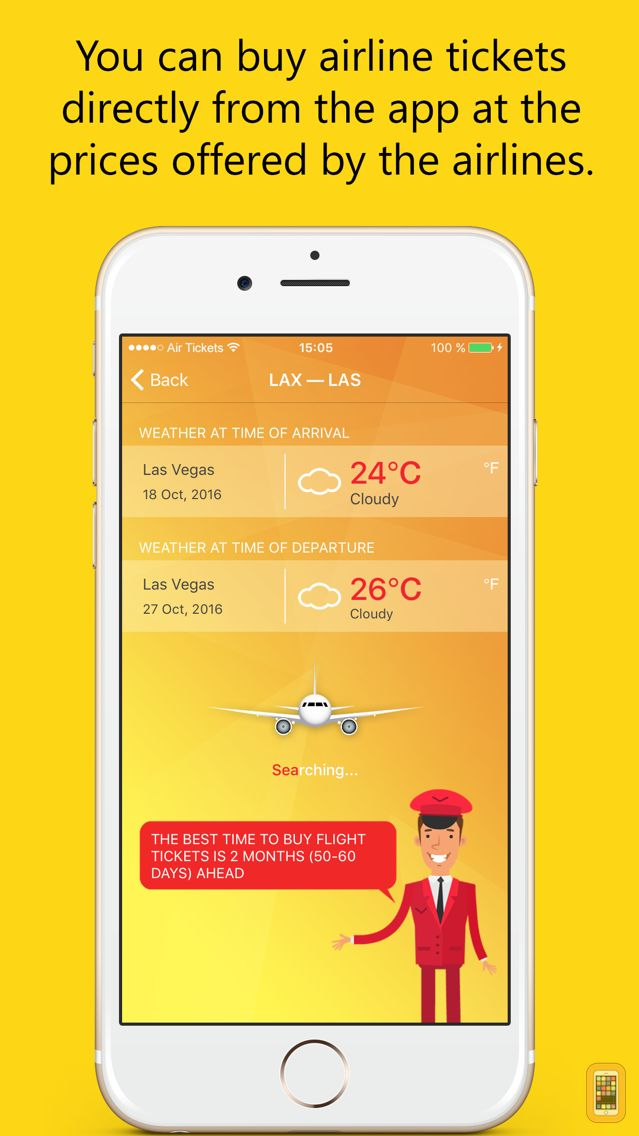 Screenshot - Air Tickets – Last Minute Flights! Your Travel Assistant!