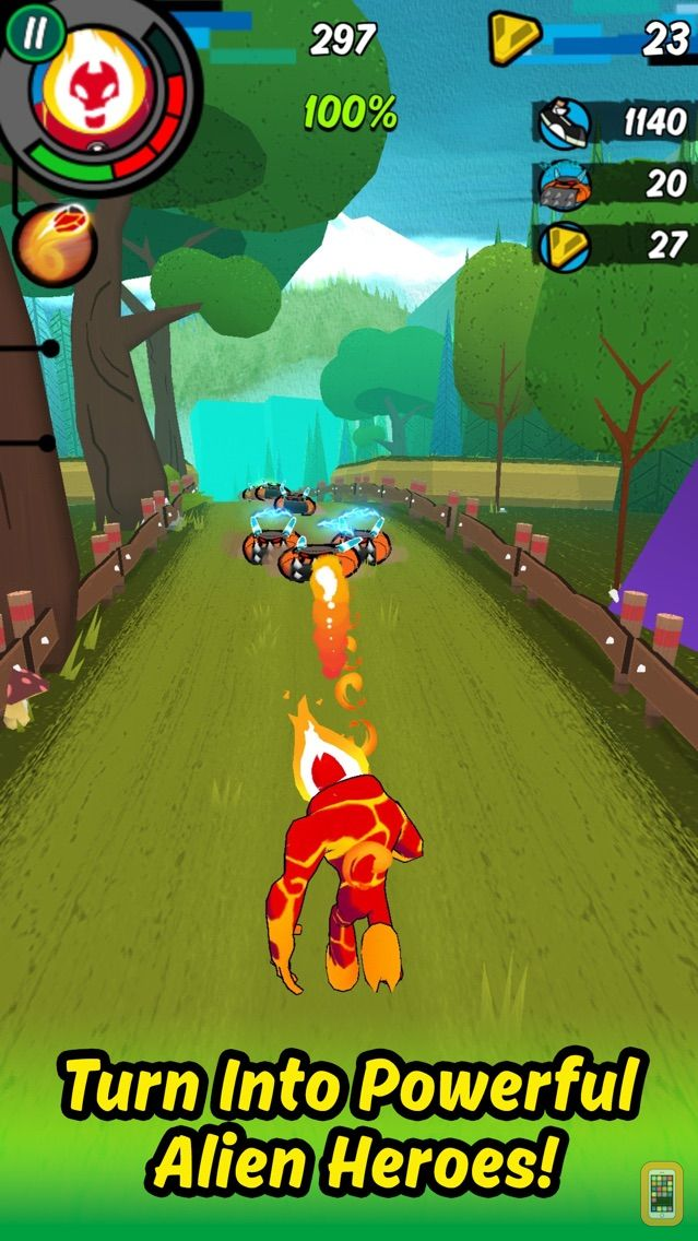 Screenshot - Ben 10: Up to Speed – Omnitrix Runner Alien Heroes