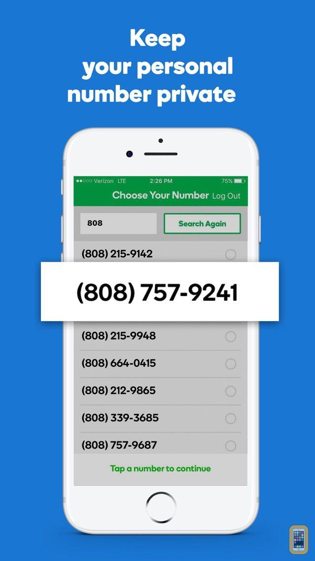 Screenshot - SmartLine Second Phone Number