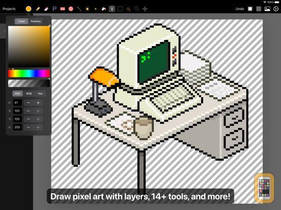 Screenshot - Pixen - pixel art editor