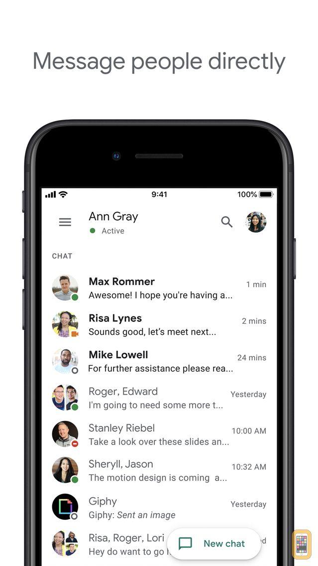 Screenshot - Google Hangouts Chat