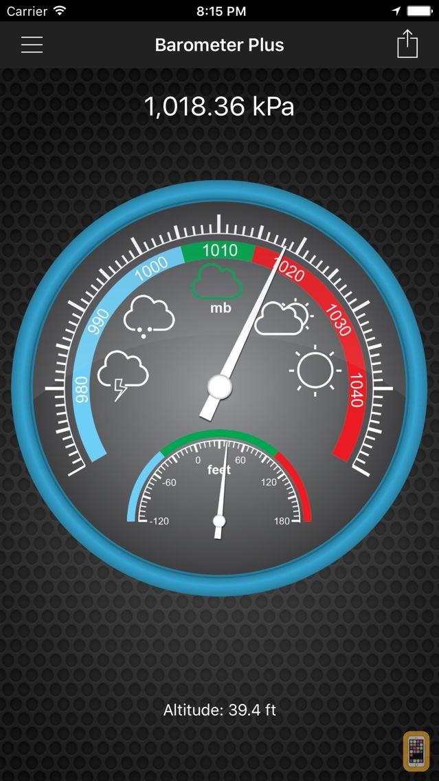 Screenshot - Barometer Plus - Altimeter PRO