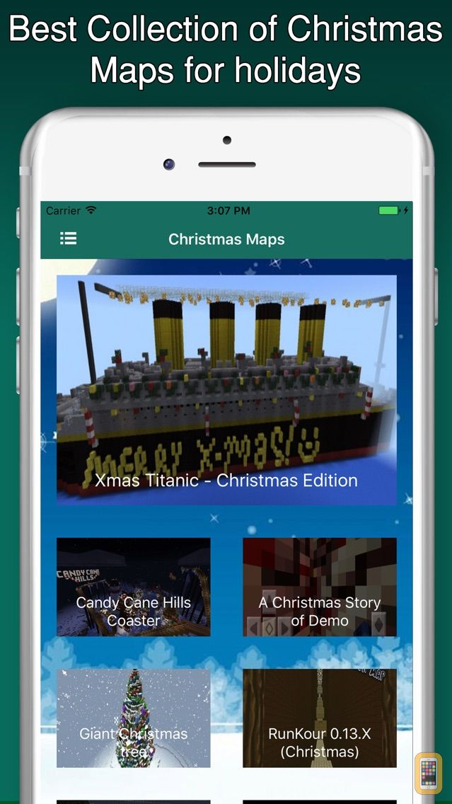 Christmas Maps For Minecraft PE Pocket Edition For IPhone IPad - Die besten maps fur minecraft pe