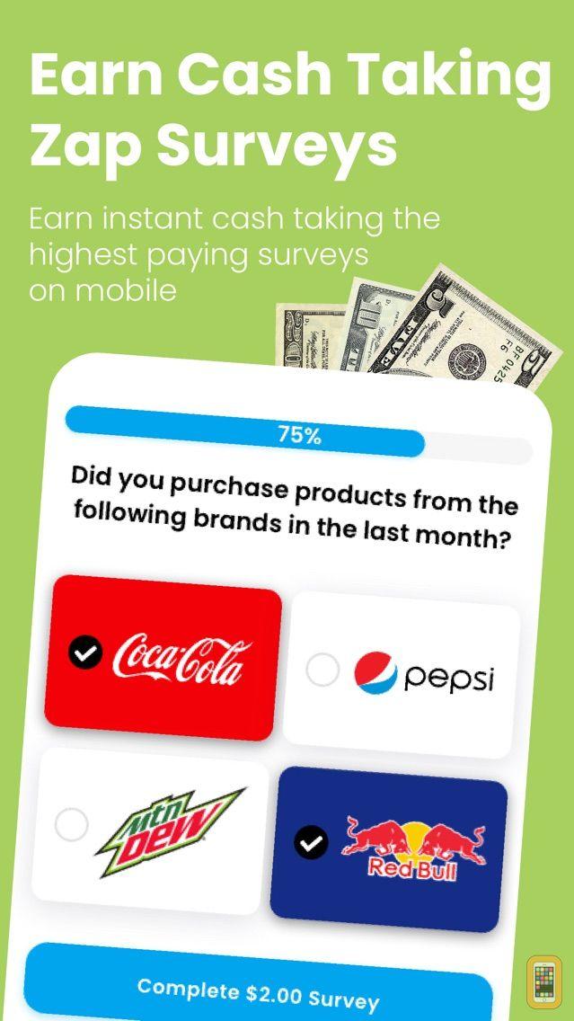 Screenshot - Zap Surveys - Get Paid Cash