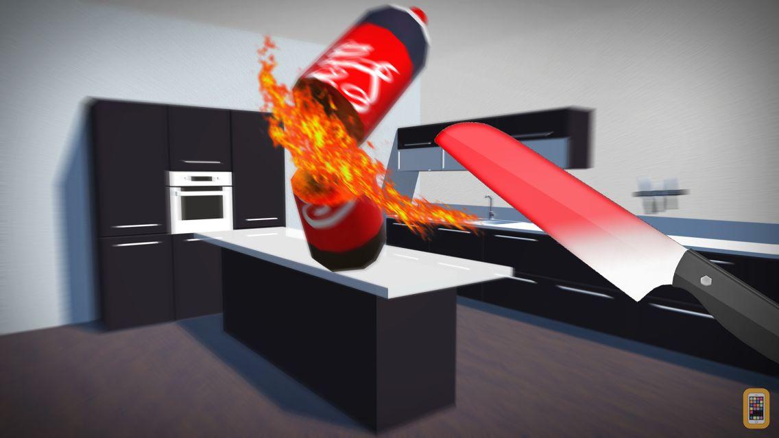 Screenshot - Bottle Flip vs Glowing Hot Knife Simulator