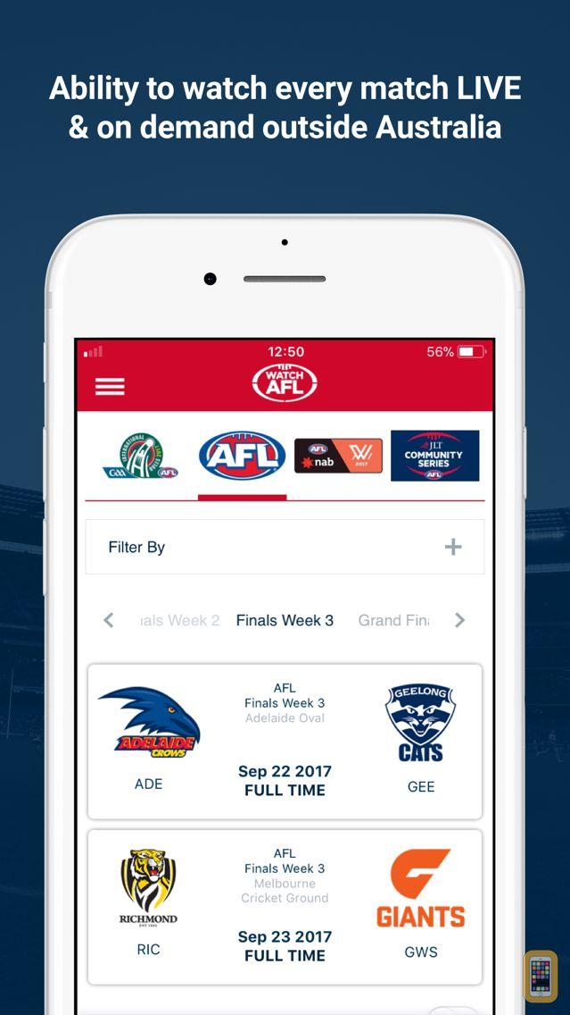 Screenshot - Watch AFL