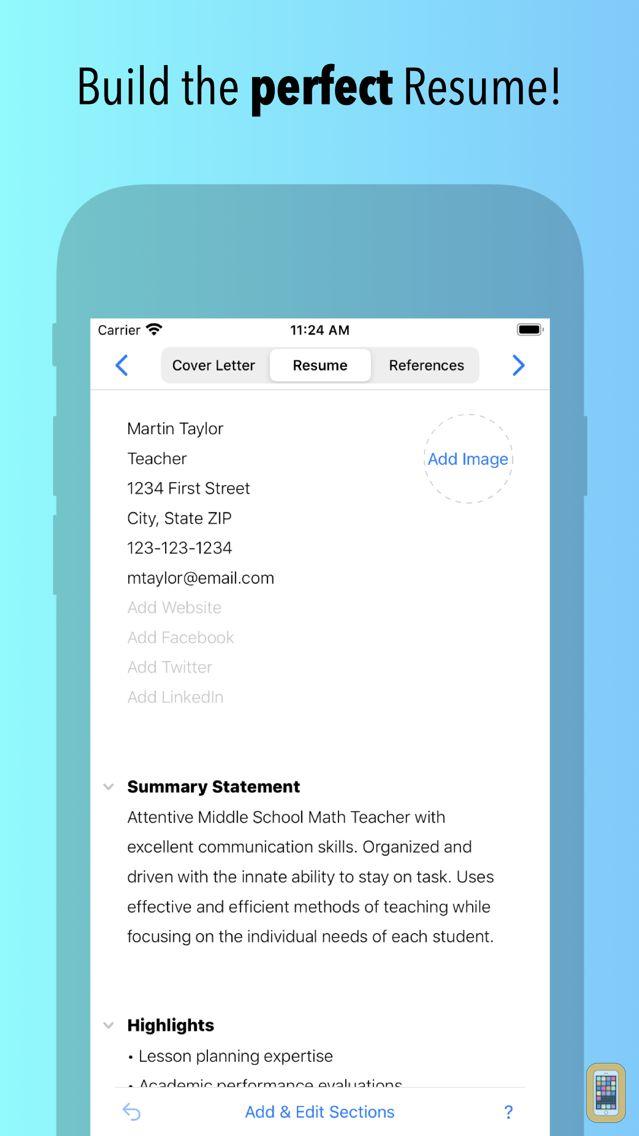 Screenshot - Resume Builder by Nobody