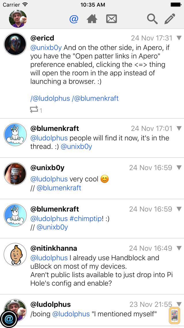 Screenshot - ChimPnut - Microblog,PM,Chat