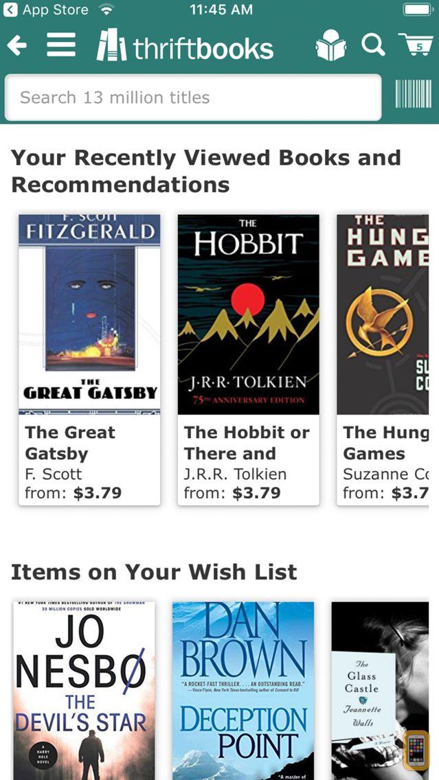 Screenshot - ThriftBooks: New & Used Books
