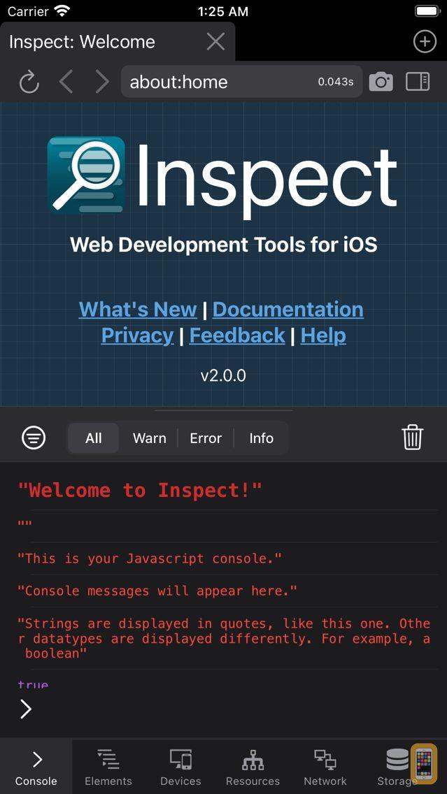 Screenshot - Inspect Browser