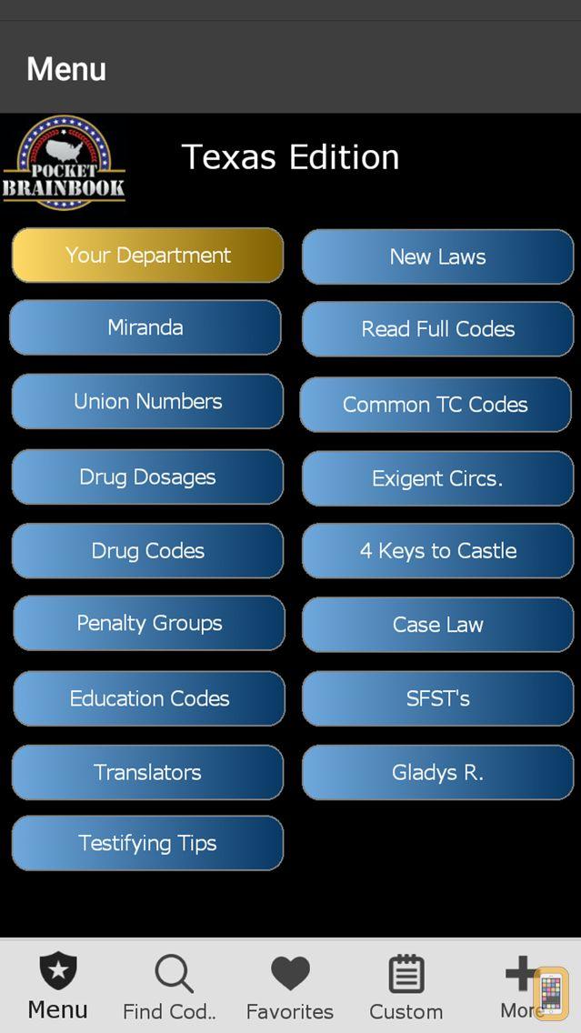 Screenshot - Texas - Pocket Brainbook