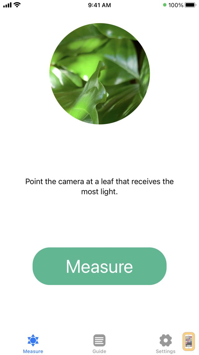 Screenshot - Plant Light Meter