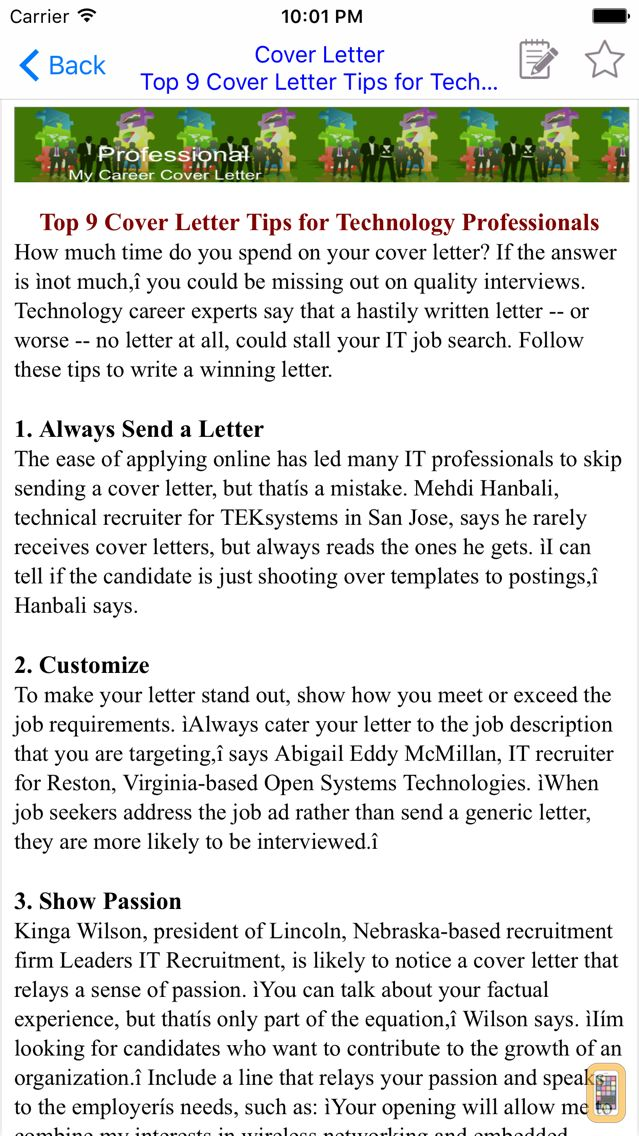 Cover Letter For Iphone  Ipad  App Info  Stats  Iosnoops