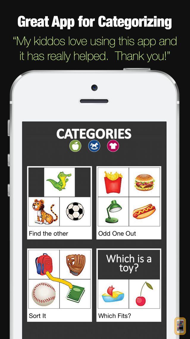 Screenshot - Categories - Categorization Skill Development App