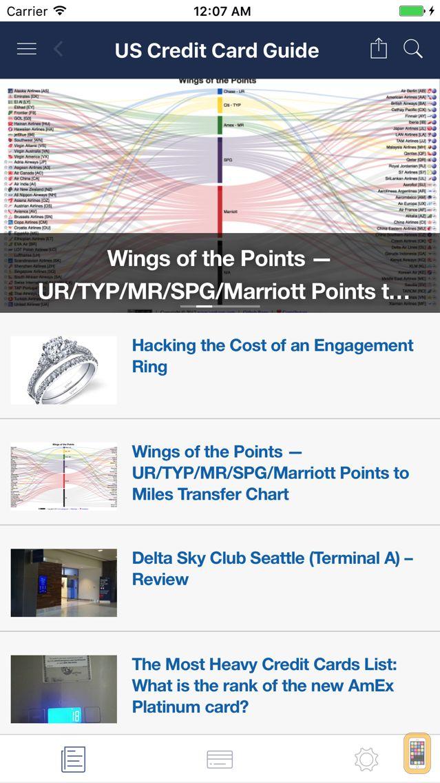 Screenshot - US Credit Card Guide