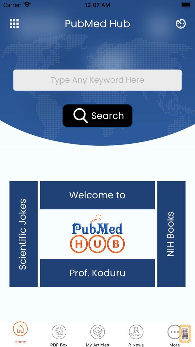Screenshot - PubMed Hub