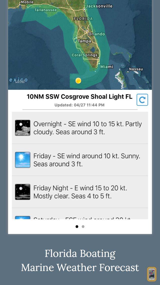 Screenshot - Florida Boating Weather
