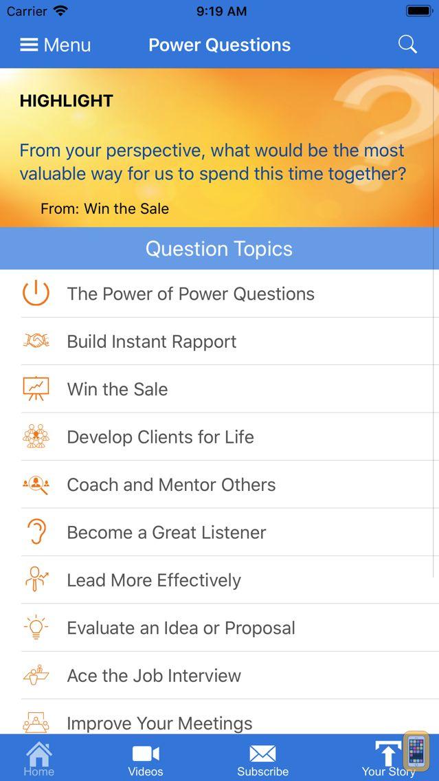Screenshot - Power Questions