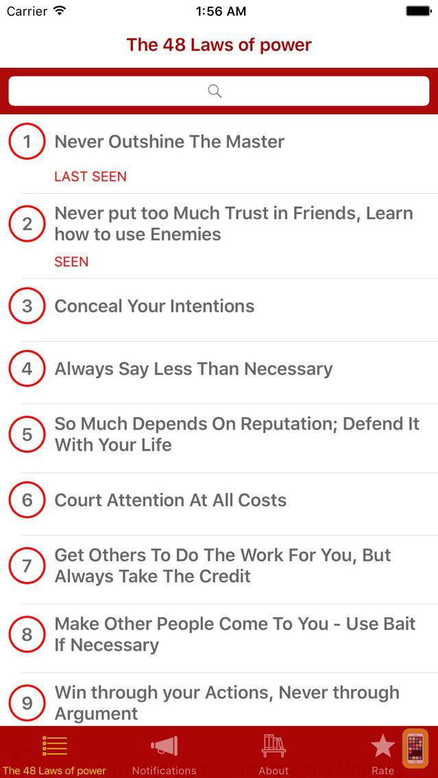 Screenshot - Summary: 48 Laws of power