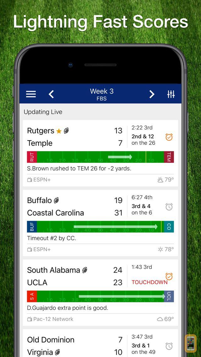 Screenshot - Scores App: College Football