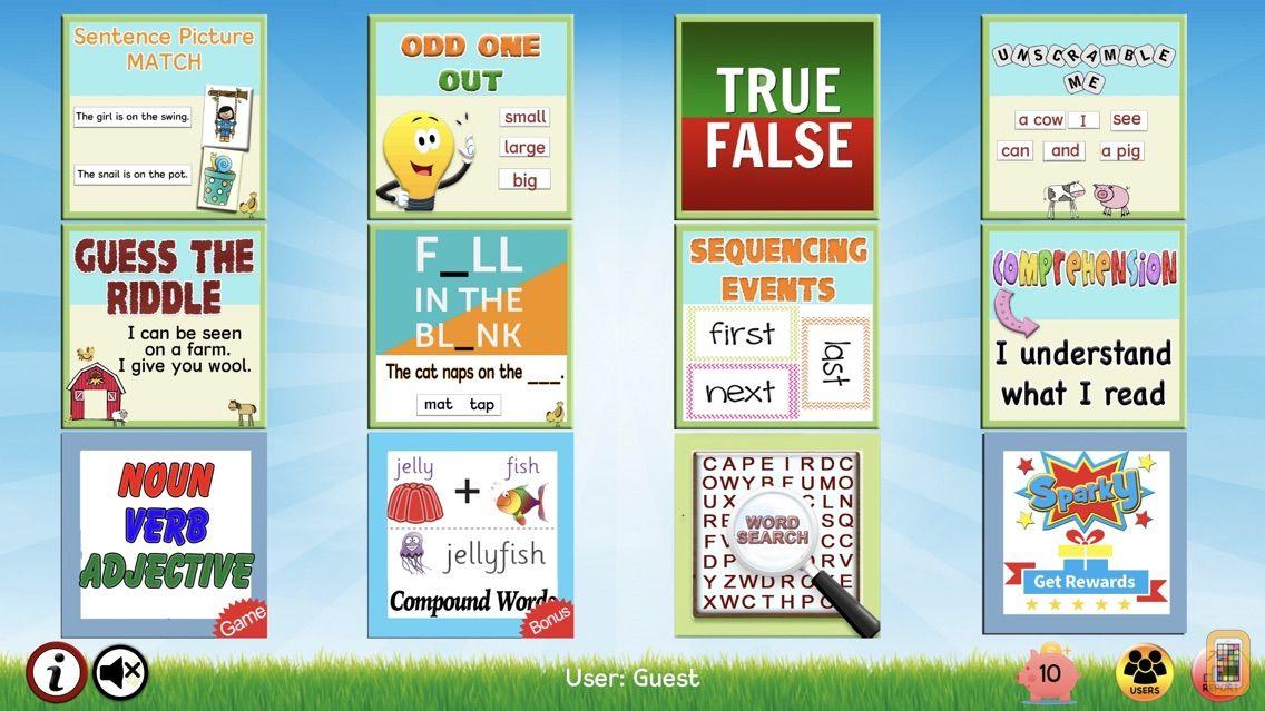 Screenshot - Read Sentences & Comprehension