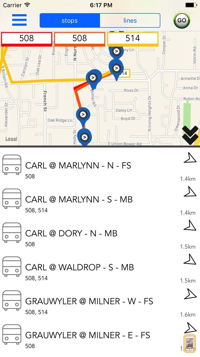 Screenshot - Dallas Public Transport Guide