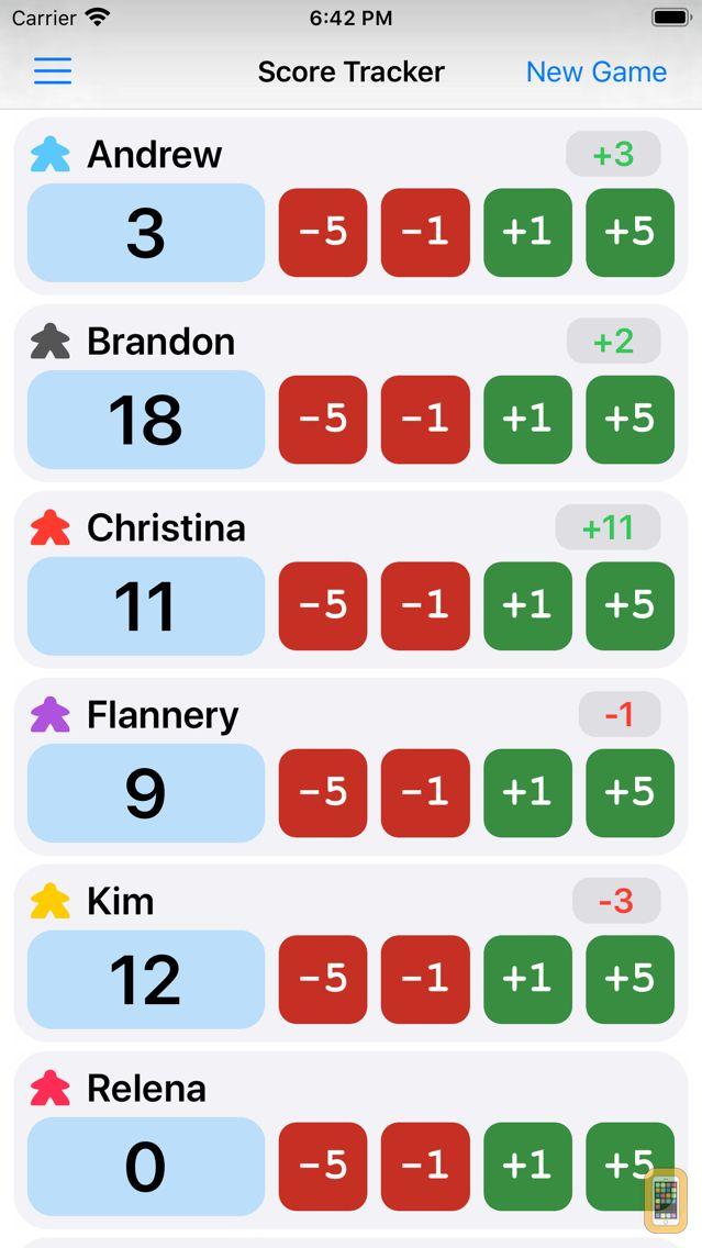 Screenshot - Game Score Tracker