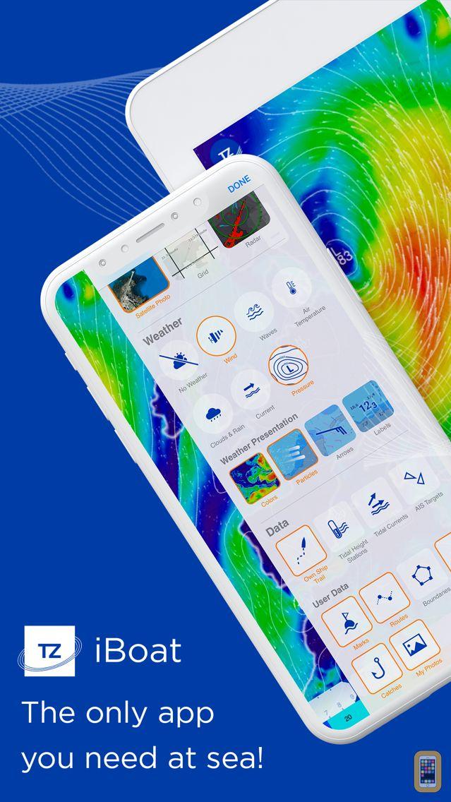 Screenshot - TZ iBoat – Marine Navigation